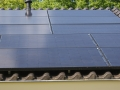 PV zonnepanelen in zwart